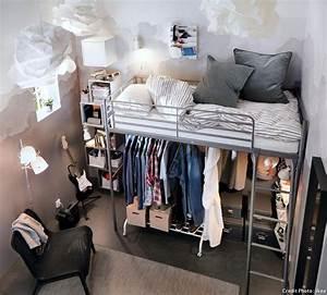 Lit Mezzanine Dressing : comment am nager l espace sous une mezzanine diy meubles mezzanine bed ikea bunk bed et ~ Dode.kayakingforconservation.com Idées de Décoration