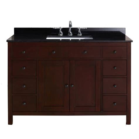 pegasus austen 48 in vanity in cherry with granite