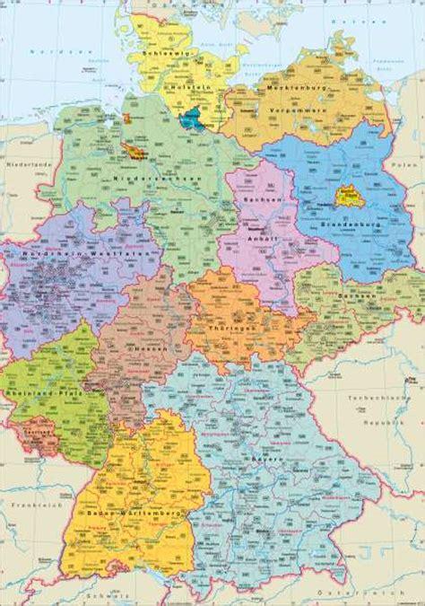 Atlas Karte Deutschland