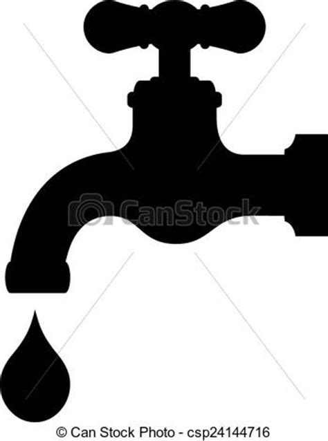 Vector water tap isolated on white background.