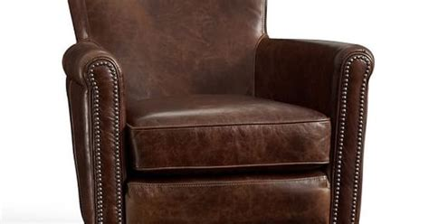Could Do 2 Chairs. Irving Leather Recliner With Nailheads