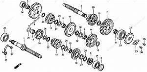 Honda Atv 1986 Oem Parts Diagram For Transmission