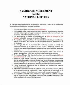 lottery syndicate agreement template word 28 images 5 With euromillions syndicate agreement template