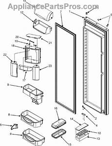 Parts For Maytag Msd2656kgw  Refrigerator Door Parts