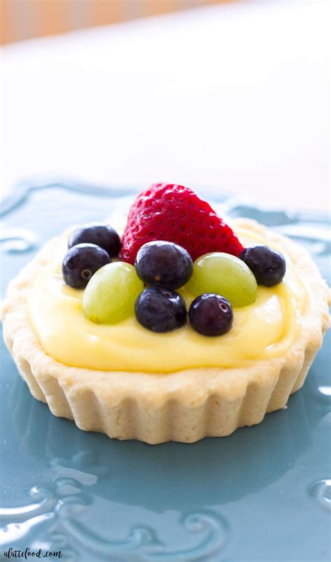 Sugar Cookie Fruit Tarts - A Latte Food
