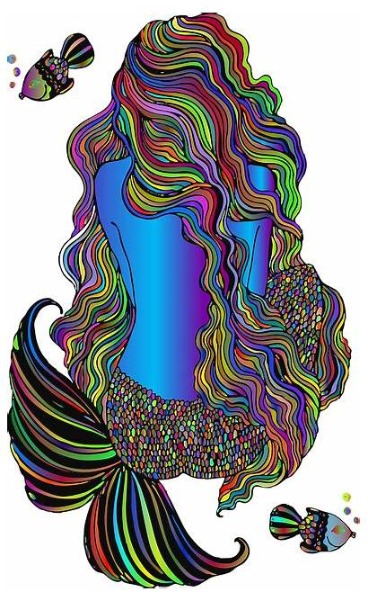Mermaid Fantasy Line Creature Fictional Pixel Max