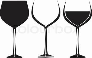 Wine glasses in graphic vector for use in party or ...