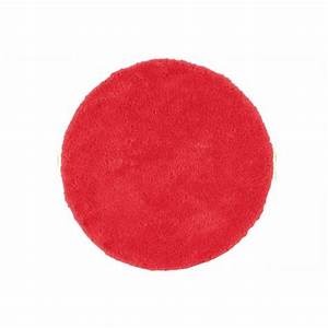 tapis rond rouge barcelo achat vente tapis soldes d With tapis rouge rond