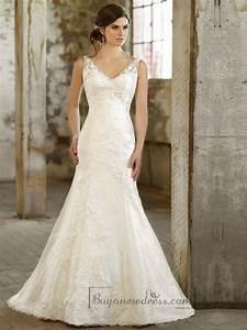 lace over straps v neck trumpet wedding dress 2197923 With trumpet lace wedding dress