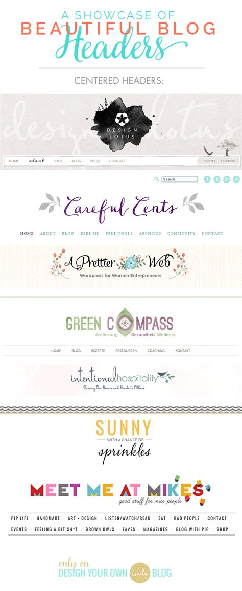 Is Your Blog Header Awkward? Fix It Now!  Design Your Own (lovely) Blog