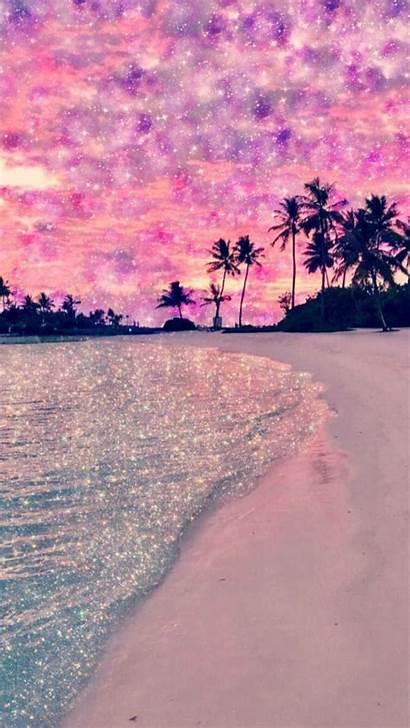 Beach Pink Glitter Wallpapers Galaxy Backgrounds Iphone