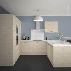 cuisine en bois clair structure stilo noyer blanchi With nice meubles blancs style bord de mer 9 deco ethnique bleu