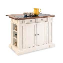home styles deluxe traditions kitchen island in white with oak top and black granite inlay - Kitchen Islands Home Depot
