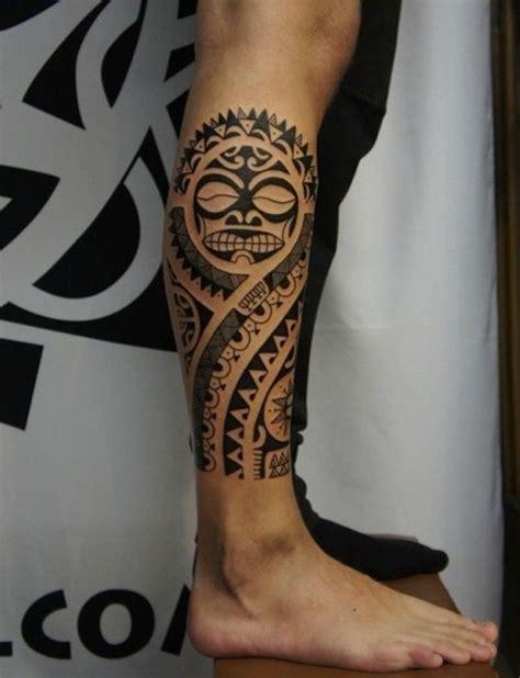 tatouage maori mollet homme  atelier de romane