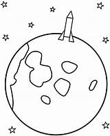 Moon Coloring Rocket Pages Space Landing Crescent Colouring Template Drawing Stars Moons Sun Drawings Rockets Festival sketch template