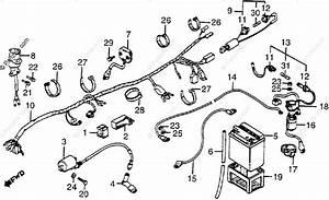 Honda Atv 1983 Oem Parts Diagram For Wire Harness