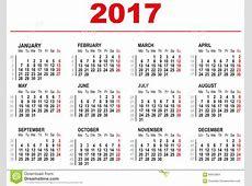 Week Calendar 2017 yearly calendar template