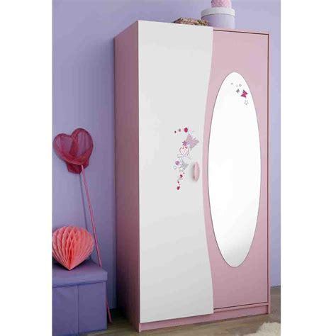 chambre avec miroir armoire 2 portes avec penderie et miroir papillon dya