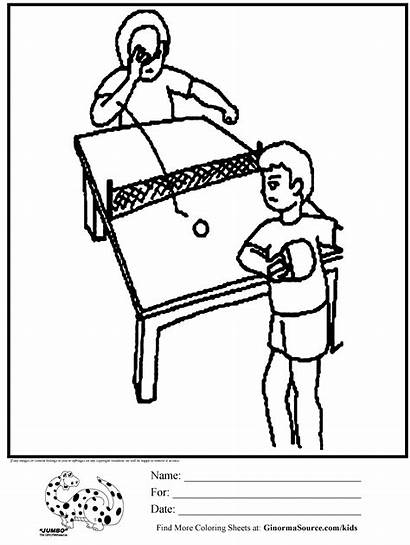 Tennis Table Coloring Pages Ping Pong Printable