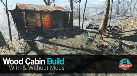 fallout  wood cabin build youtube