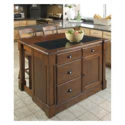 kitchen island home styles aspen granite top kitchen island with two stools and drop leaf kitchen islands and
