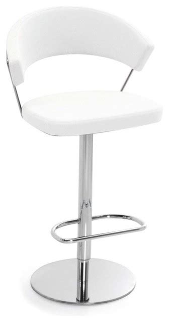 Modern White Leather Bar Stools by New York Swiveling With Gas Lift Bar Stool Leather White