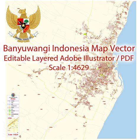 banyuwangi  map vector exact city plan detailed street
