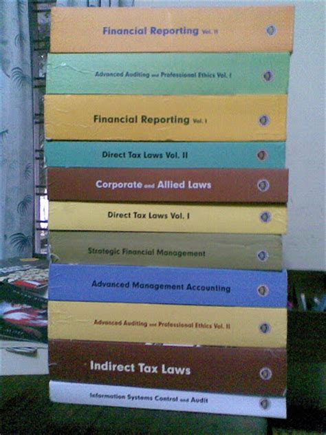 pictures  ca final text books students forum