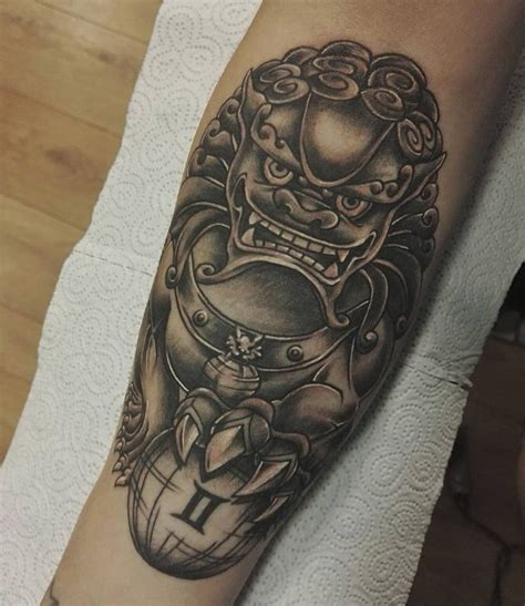 fantastic foo dog tattoo ideas  creature rich  symbolic meaning