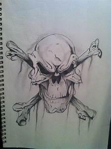 Evil Skulls Drawings Cake Ideas and Designs