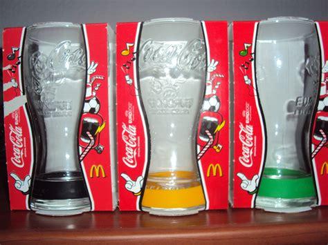 bicchieri collezione bicchieri coca cola mc donald s europei di calcio