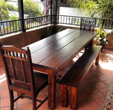 outdoor farmhouse dining table 8ft outdoor farmhouse dining table rustic dining