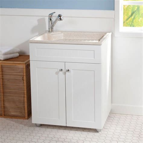 white laundry sink cabinet white light blue wall kitchen with simple white utility