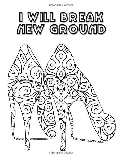 Pretty Shoes: An Adult Coloring Book with Positive
