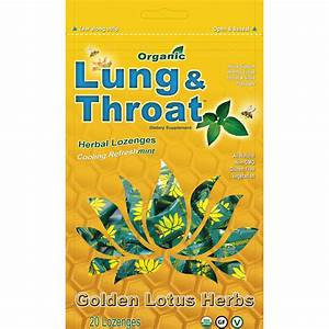 Organic Lung  U0026 Throat Herbal Drops