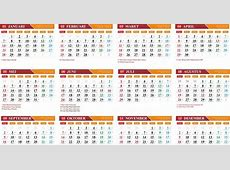 Gratis Download Template Kalender 2018 cdr kanglux