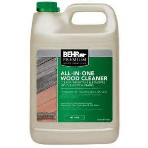 behr premium 1 gal all in one wood cleaner 06301n the home depot