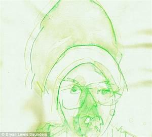 Artist draws dozens of bizarre self portraits while high