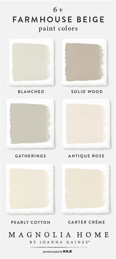 list of paint colors joanna gaines uses look at these delicious farmhouse beige shades the magnolia home by joanna gaines paint