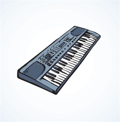 synthesizer vector drawing stock vector illustration