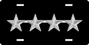 Army General Rank Insignia License Plate