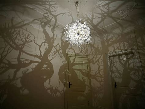 chandelier turns a room into a forest bored panda