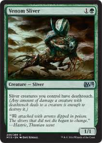 venom sliver creature cards mtg salvation