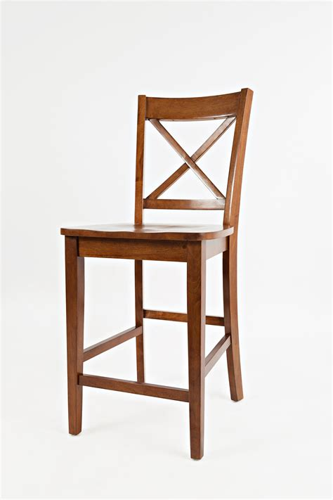 x back counter stool jofran simplicity x back stool counter height mueller 1678
