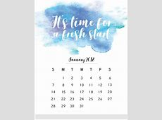 2018 Monthly Calendar With Quotes Calendar 2018