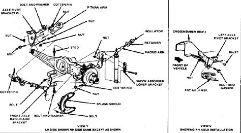 1998 Ford Ranger 4x4 Diagram by The Ford Ranger Bronco Suspension Technical Library