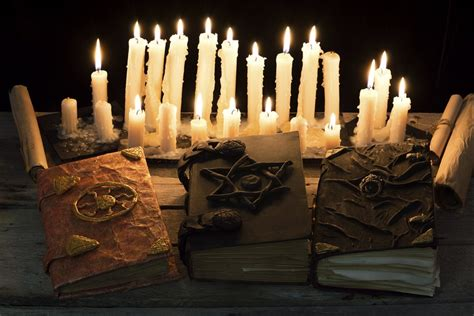 halloween witchcraft magic spells witches candles books money season spooky