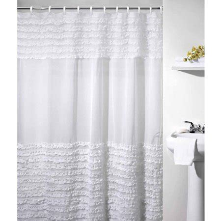 white ruffle shower curtain ruffles shower curtain white walmart