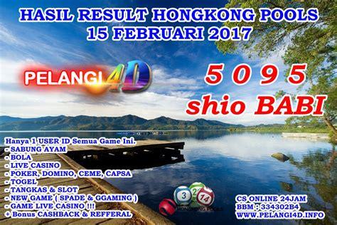 result hongkong pools tanggal  februari
