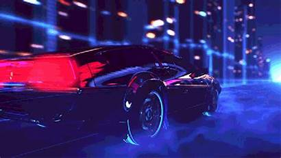 Retro Wave Gifs Cars Wallpapers Neo Anime